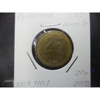 25 сентаво Аргентины 2009 года. 1