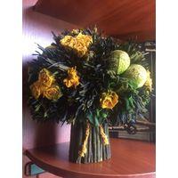 Флористическая композиция Vermond, б/у. Высота 33  см, диаметр 30 см. Состояние нормальное.