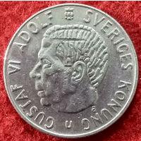 1 крона 1971 год Швеция, Король Густав VI Адольф