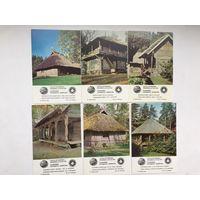 Календарики серии Памятники народного зодчества. Латвия 1983 (6 штук)