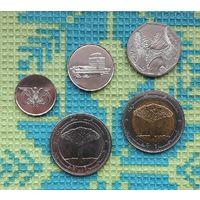Йемен набор монет 1, 5, 10, 25/25 риалов. Пальма. UNC.
