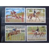 ЦАР 1983 Олимпиада в Лос-Анджелесе, конный спорт Полная серия Михель-3,5 евро гаш