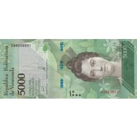 Венесуэла5000 боливар 2017