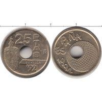 Испания 25 песет 1992 UNC