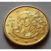 10 евроцентов, Италия 2010 г., AU