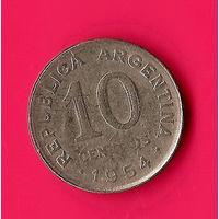 28-38 Аргентина, 10 сентаво 1954 г