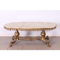 Бронзовый столик.Оникс.Бельгия 60-е.Art-931.