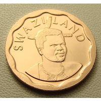 """Эсватини """"Свазиленд"""". 5 центов 2011 год  КМ#56 """"Король Мсвати III"""" """"Белая лилия"""""""
