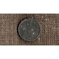 Нидерланды 1 цент 1942 /цинк,/ оккупация/(М*)