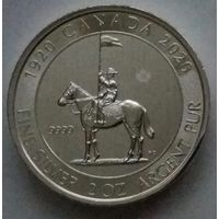 "Канада 2020 серебро (2 oz) UNC ""100th anniversary of the Royal Canadian Mounted Police"""