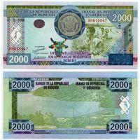 Бурунди. 2000 франков (образца 2008 года, P47, UNC)
