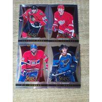 4 карточки НХЛ одним лотом.