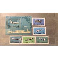 Корея.1974г.Самолёты.