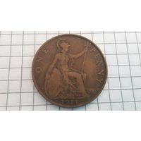 1 пенни 1914 год