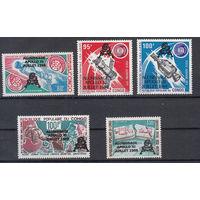 Космос. Аполлон-11. Конго. 1979. Надпечатки. Полная серия.  Michel N 702-706 (7,0 е)