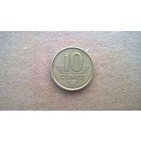 Литва 10 центов, 2008г. (D-8)