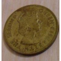 1 пенни Ямайка 1967 года (из коллекции)
