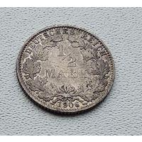 """Германия 1/2 марки, 1906 """"E"""" - Мульденхюттен 7-10-18"""