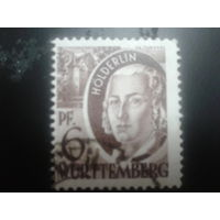 Германия 1948 Вюртемберг фр. зона поэт