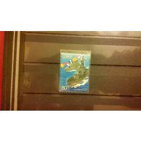 Транспорт, корабли, война, военный флот, флаги, марка, Япония, 2002