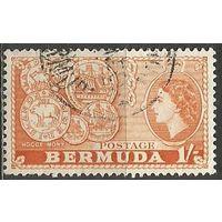 Бермуды. Королева Елизавета II. Старые монеты. 1953г. Mi#141.