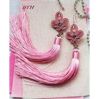 Серьги - кисти Pink