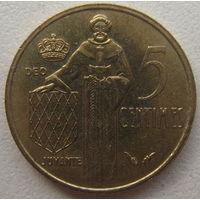 Монако 5 сантимов 1977 г.