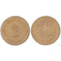 YS: Германия, Рейх, 2 пфеннига 1874E, KM# 2