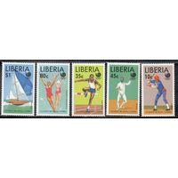 Спорт Либерия 1988 год серия из 5 марок