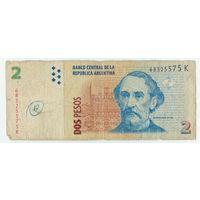 Аргентина, 2 песо  2014 год.