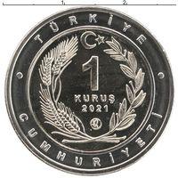 Турция 1 куруш 2021 Собака Каталбурун UNC