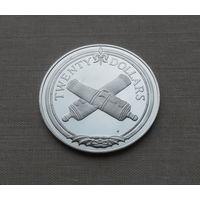 Британские Виргинские острова, 20 долларов 1985 г., серебро