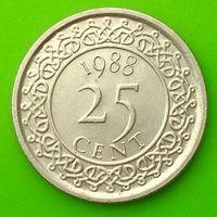 25 центов 1988 СУРИНАМ  *