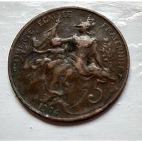 Франция 5 сантимов, 1904  2-6-25