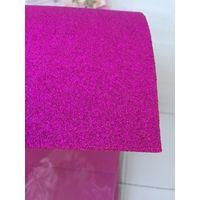 Фоамиран пачка со стразами пурпурный алый 5 листов 2 мм