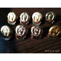 Белорусский герб для петлиц и на погоны 8 штук металл эмаль.