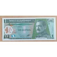 1 кетцаль 2012 года - Гватемала - UNC - полимер
