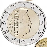 2 евро 2009 Люксембург UNC из ролла
