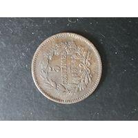 5 сантимов 1854 года Люксембург