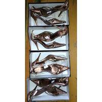 Летние изящные туфли на шпильке - см фото