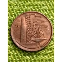 Сингапур  1 цент 1981 г. Сохран+
