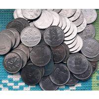 Индия 2 рупии, UNC. Герб.