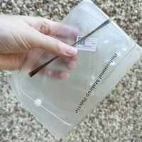 Прозрачная пластиковая палитра с метал шпателем в комплекте