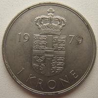 Дания 1 крона 1979 г.